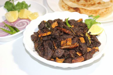 Roasted Coconut Masala Beef Fry